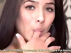 Megan Salinas Fingers Her Wet Pussy Then Tastes Her Juices