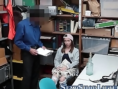 Real shoplifter tugging
