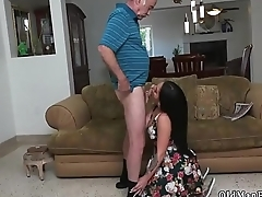 Teen fucks old guy and daddy teaches wrestling first time Frannkie'_s