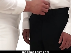 MormonBoyz - Handsome priest leader strokes bound gay missionary&rsquo_s cock