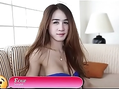 Breasty lady-man shows her body