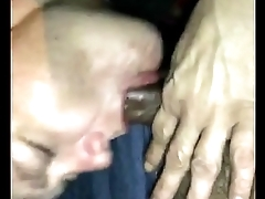 head from white milf in car part 1