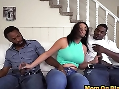 Busty milf loves big black dicks
