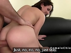 Amateur anal fucked and creampied at casting