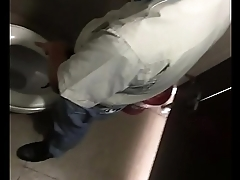 Gay boy jerk off in the toilet at the working time part 4