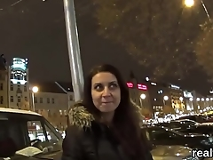 Perfect czech nympho was seduced in the hypermarket and plowed in pov