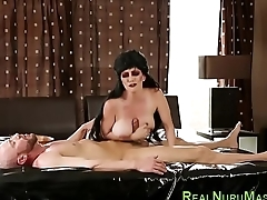Cosplay masseuse jerking