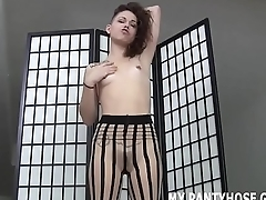 I put on a new pair of pantyhose just for you JOI