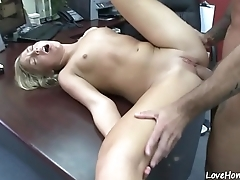 Doggy style pounding for a thirsty blonde chick
