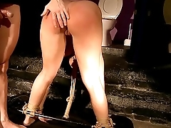 My gorgeous private sex slave.Teaching obedience.BDSM movie.
