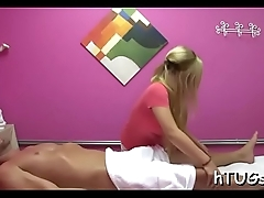 Awesome massage by cute babe