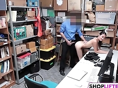 Teen Jade Has Nail With An Officer For Theft