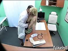 Sexy doctor cums again and again