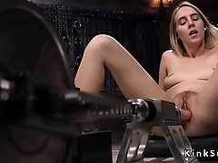 Huge squirting pussy fucking machine