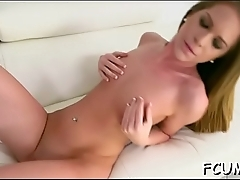 Whore groans from passionate fuck