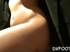 Naughty beauty grinds dick