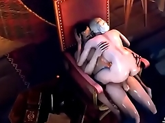 hot 3d big tits blonde queen fucked on her thron