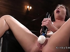 Sweat hairy solo babe fucking machine
