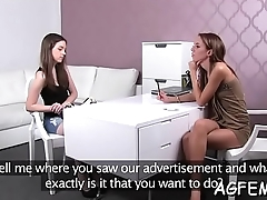 Female agent knows how to have a fun sex