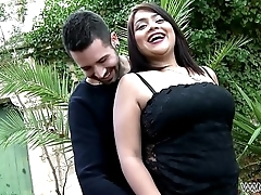 Curvy Lolita Fucked and Fingered Until She Squirts Outdoors