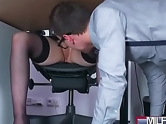 Busty Milf boss fucks big geek cock(Angel Wicky) 01 vid-11