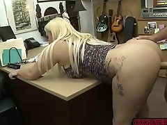 Busty babe Nina Kayy fucks Shawns bigcock in the office