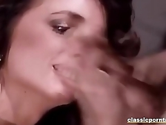 Sexy Classic Babe Sucks and Get Fucked