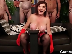 Wicked doll gets sperm load on her face eating all the jizz
