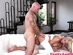 Bigtitted taboo babe gets fucked by stepdad