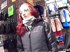 Adorable czech girl gets tempted in the mall and reamed in pov