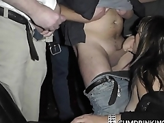 Slutwife taking on plenty of cummers