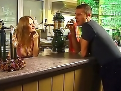 Waitress picked up and fucked by a customer