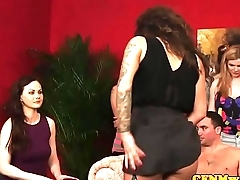 CFNM glamour doms doggystyle sub after bj