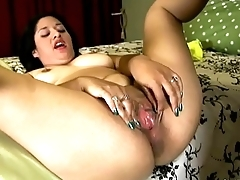 Cute chubby brunette loves sucking &amp_ fucking for a mouthful of cum