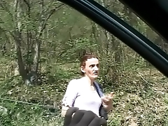 A woman alone in the country, attacked and fucked by a maniac
