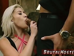 Rough anal gangbang and college sex Big-breasted light-haired cutie