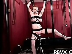 Dirty floozy spanked and bounded